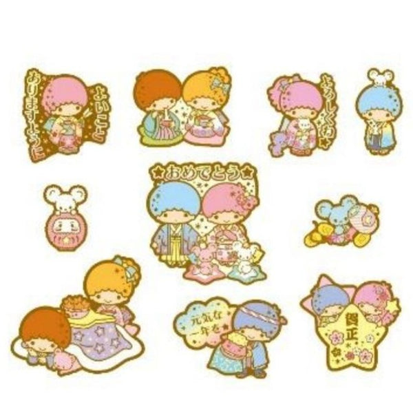 Sanrio - Stickers Little Twin Stars New Year