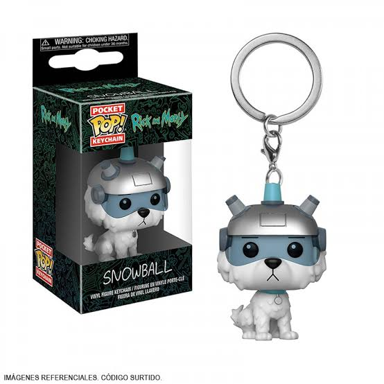 Rick and Morty - Llavero Funko de Snowball-Rick and Morty-Monono-Peru
