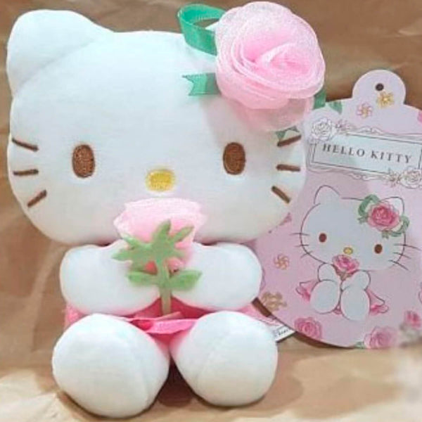 Sanrio - Llavero de Peluche Hello Kitty Rose