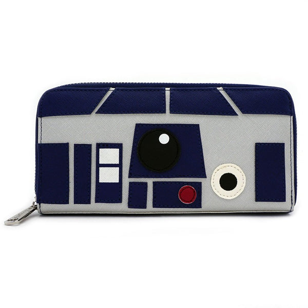 Loungefly - Billetera Star Wars R2-D2 Saffiano Faux Leather