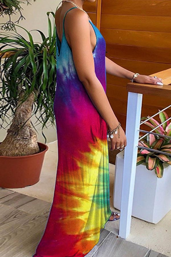 Bohemia Sling Colorful Beach Dress