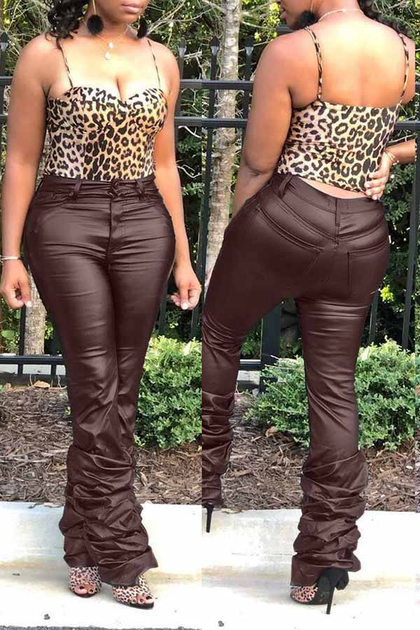 Classic Stacked Leather Pant