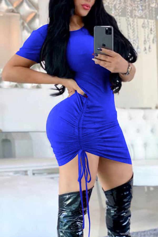 Sexy Solid Color Bandage Dress
