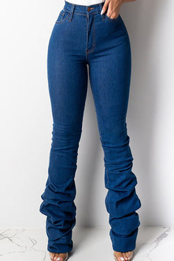 On-trend Slim-fit Pleated Jeans