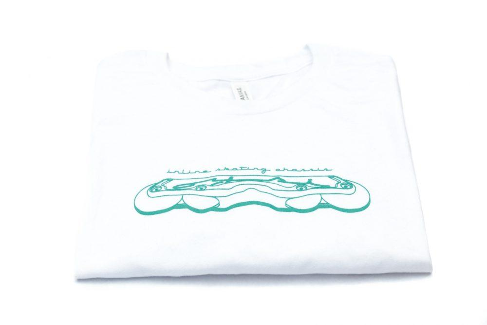 Oysi Chassis Frame Tee (White) - Oak City Inline Skate Shop
