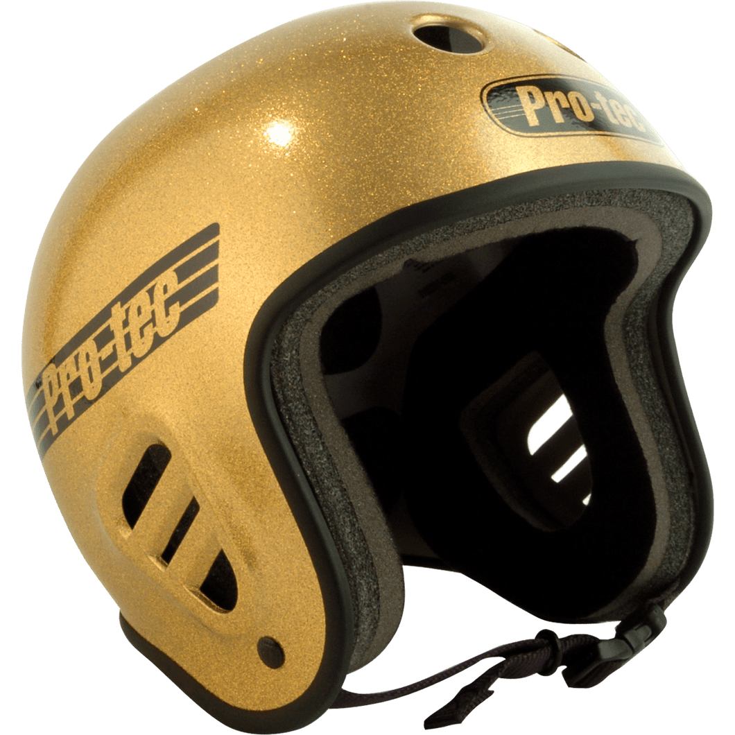 Protec Full Cut Protective Helmet (Gold) - Oak City Inline Skate Shop
