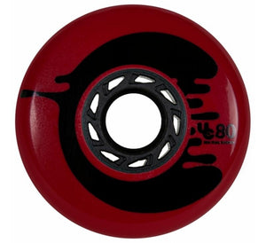Undercover Cosmic Rosche Red Wheel 80mm 88a (4 pack) - Oak City Inline Skate Shop
