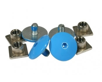 USD Throne Replacement Cuff Bolts (blue) - Oak City Inline Skate Shop