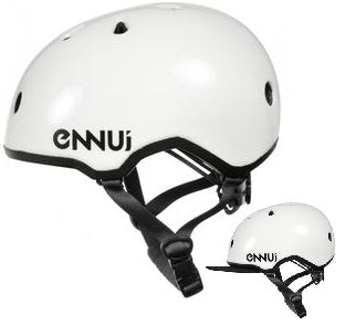 Ennui Elite Helmet (Optional Sun Protection) - White - Oak City Inline Skate Shop