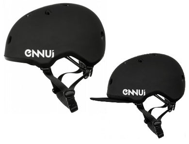 Ennui Elite Helmet (Optional Sun Protection) - Black - Oak City Inline Skate Shop