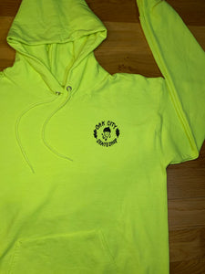 Oak City Happy Acorn Hoodie (High Visibility)