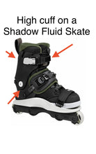 Load image into Gallery viewer, USD Shadow Replacement High Cuff 2.0 (Black) - Oak City Inline Skate Shop