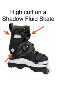 USD Shadow Replacement High Cuff 2.0 (Black) - Oak City Inline Skate Shop