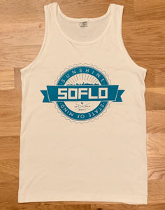 SoFlo Tank (White with Blue) - Oak City Inline Skate Shop