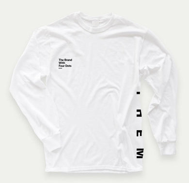 Them 4 Dots Long Sleeve (White) - Oak City Inline Skate Shop