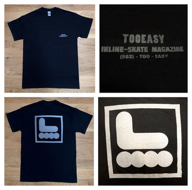 Too Easy Pocket Tee (Black with Reflective Gray)