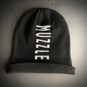 Muzzle: Black Beanie (With Printed Name) - Oak City Inline Skate Shop