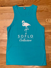 Load image into Gallery viewer, SoFlo Flamingo Tank (Blue and White) - Oak City Inline Skate Shop