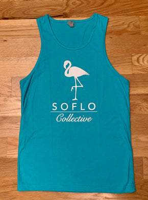 SoFlo Flamingo Tank (Blue and White)