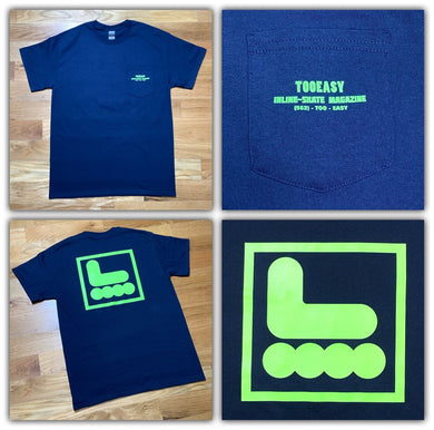 Too Easy Pocket Tee (Navy) - Oak City Inline Skate Shop