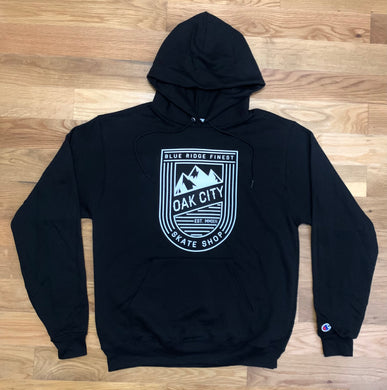 Oak City Blue Ridge Finest Hoodie (Black-Thick)