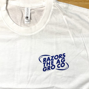 Razors The Ag Gro Co Tee - White - Oak City Inline Skate Shop