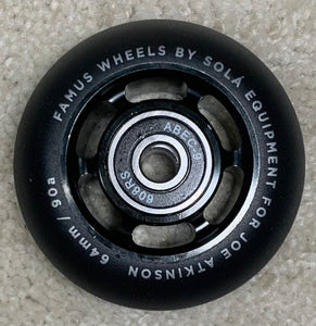 Famus Joe Atkinson Pro Wheels with Abec 9 Bearings (60mm and 64mm, 4 pack)