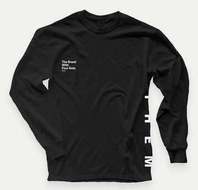 "Them ""4 Dots"" Long Sleeve (Black) - MEDIUM ONLY - Oak City Inline Skate Shop"