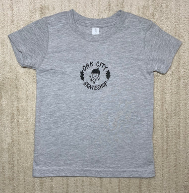 Oak City Happy Acorn Toddler Tee (Gray)