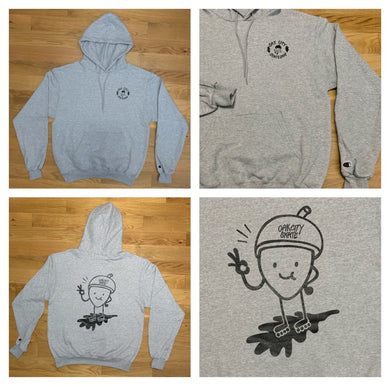 Oak City Happy Acorn Hoodie (Gray)