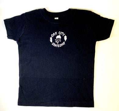 Oak City Happy Acorn Toddler Tee (Black) - Oak City Inline Skate Shop