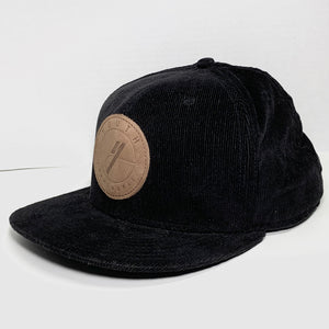 Youth Frameworks Black Corduroy Hat - Oak City Inline Skate Shop