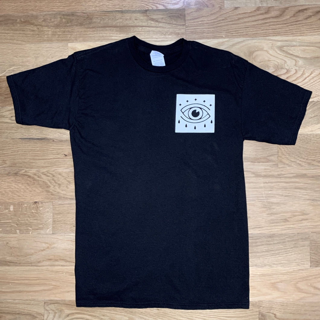 Red Eye Boxed Logo Tee - Black