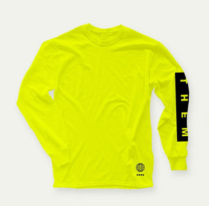 THEM Hi Vis Long Sleeve (High Visibility Yellow) - Oak City Inline Skate Shop
