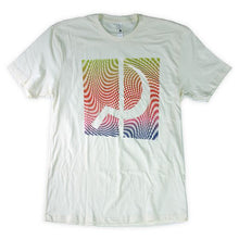 Load image into Gallery viewer, Ground Control Rainbow Psych Tee (Light Yellow) - Oak City Inline Skate Shop