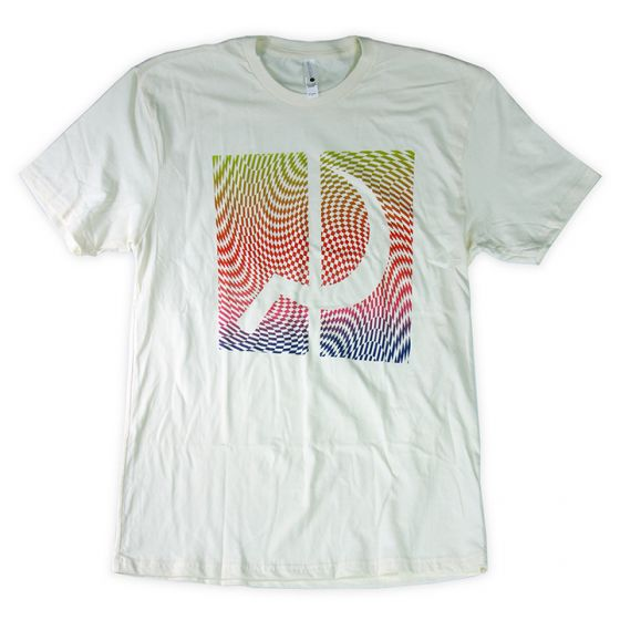 Ground Control Rainbow Psych Tee (Light Yellow) - Oak City Inline Skate Shop
