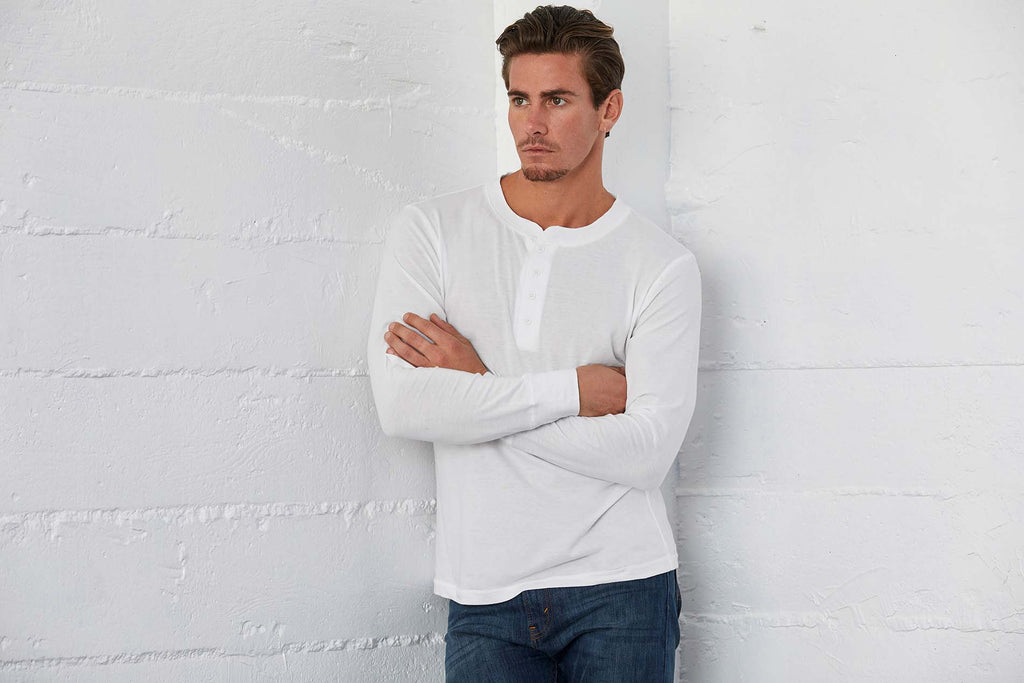 Men's Jersey Long Sleeve Henley - Shirts4All NL