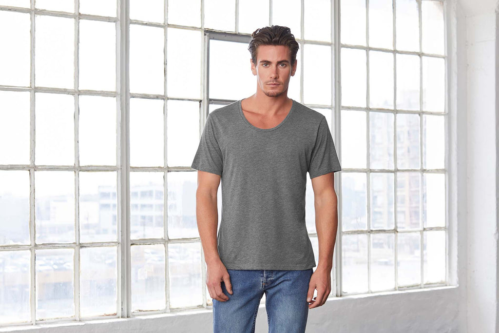 Men's Jersey Wide Neck Tee - Shirts4All NL