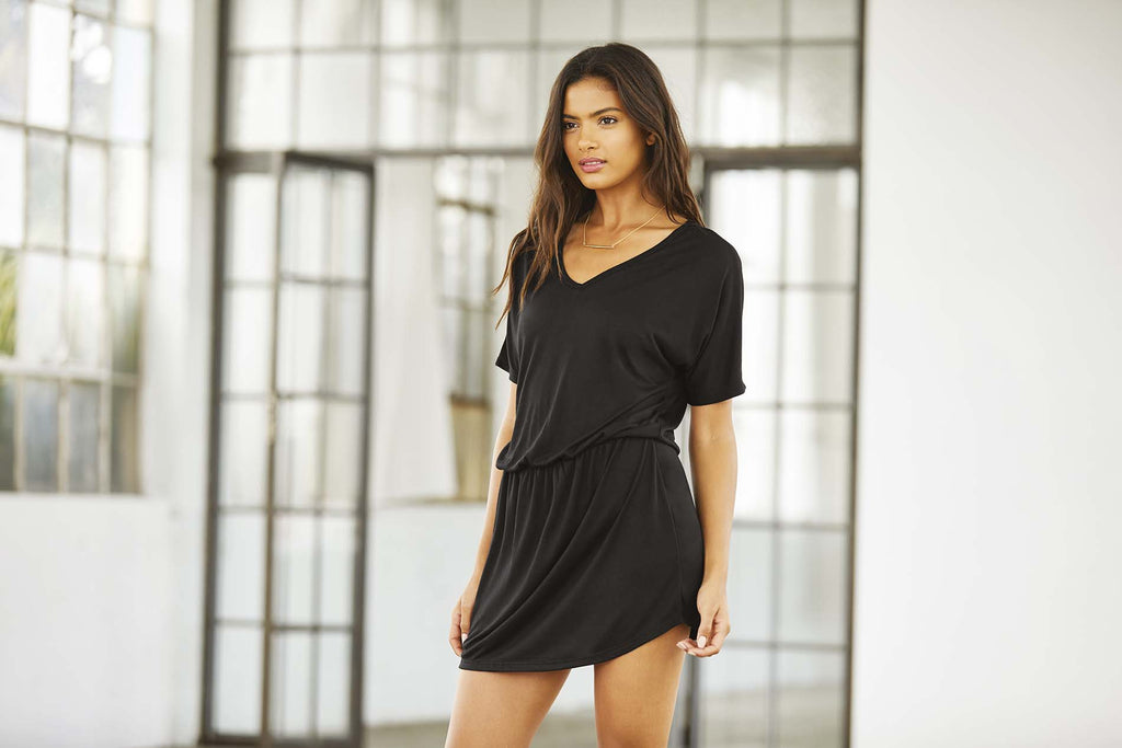 Women's Flowy V-neck Tank Dress - Shirts4All NL