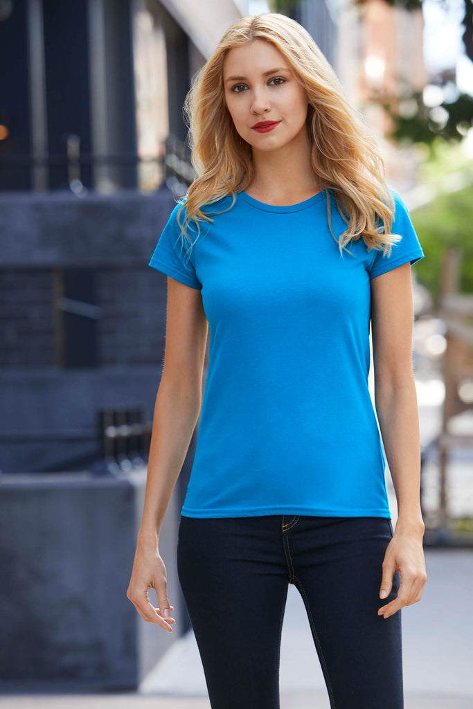 Premium Cotton® Ring Spun Semi-fitted Ladies' T-shirt - Shirts4All NL