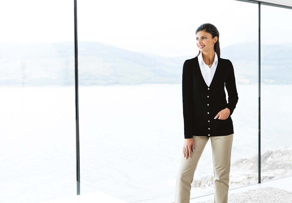 Ladies' Lightweight V Cardigan - Shirts4All NL