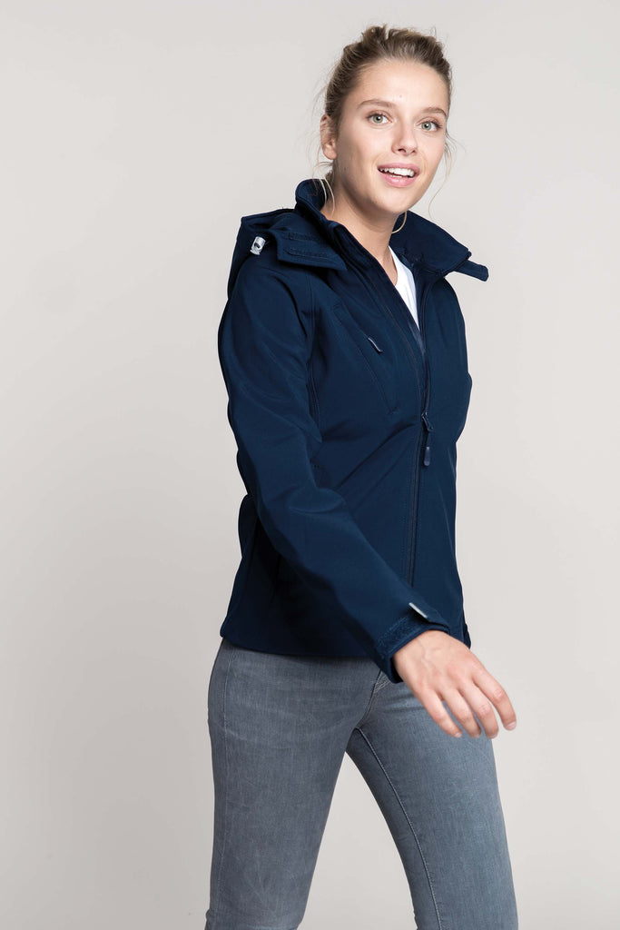 Dames Afneembare hooded softshell jas - Shirts4All NL