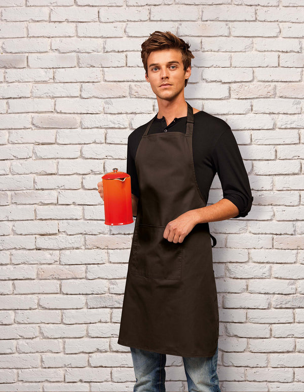 Colours Bib Apron With Pocket - Shirts4All NL