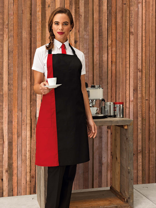 Contrast Bib Apron - Shirts4All NL