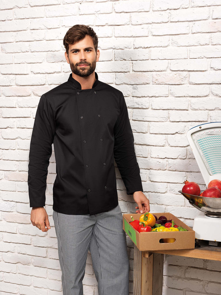 Long Sleeve Press Stud Chef's Jacket - Shirts4All NL