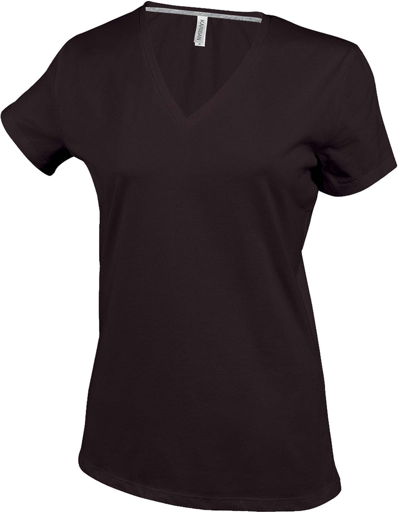 Dames T-shirt V-hals Korte Mouwen Kariban - Ladies - Shirts4All NL