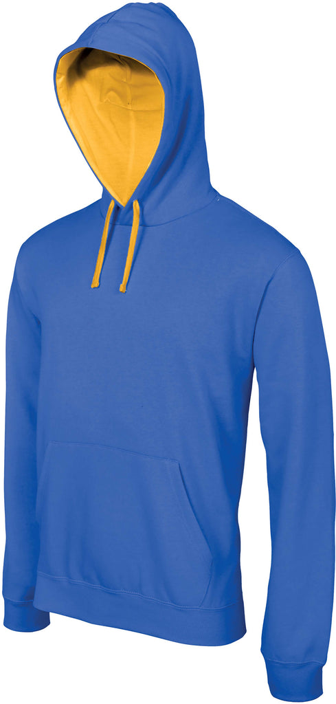 Hooded sweater met gecontrasteerde capuchon Kariban - Shirts4All NL