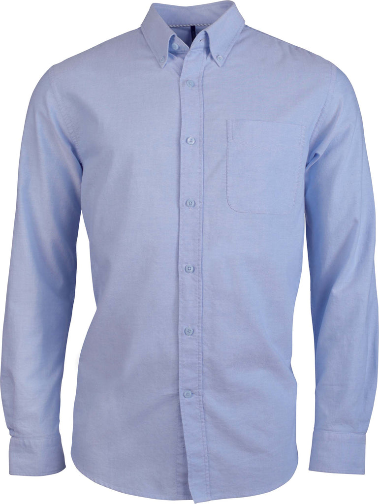 Heren oxford overhemd lange mouwen - Shirts4All NL