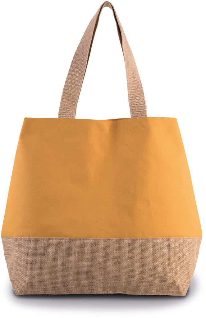 Shopper van jute- & katoencanvas - Shirts4All NL