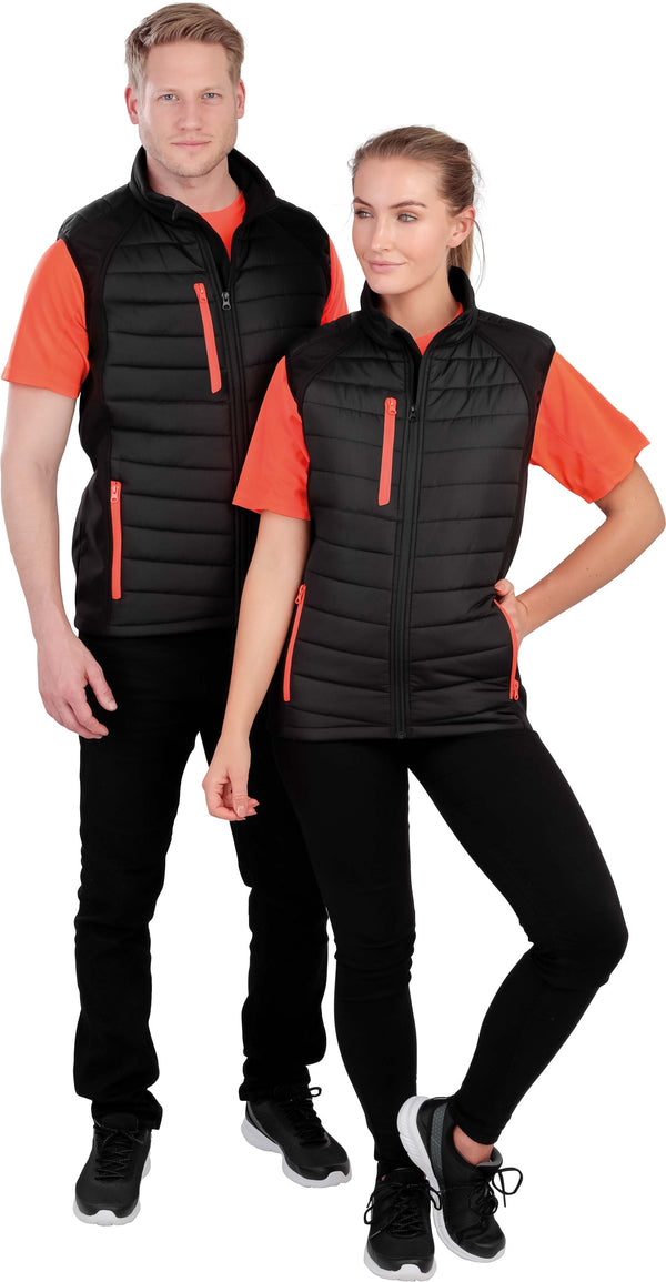 BLACK COMPASS PADDED SOFT SHELL GILET - Shirts4All NL